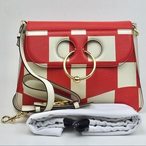 JW ANDERSON Checkerboard Print Medium Pierce Bag